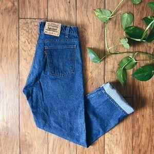 LEVI'S • vintage orange tab mom jeans